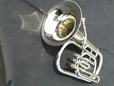 BARITONE HORN OF PURE BRASS IN CHROME POLISH + CASE + MOUTHPC + FREE SHIPPING
