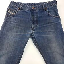 Diesel KROOLEY Mens Jeans W33 L29 Dark Blue Slim Fit Straight High Rise