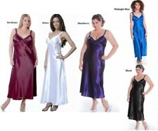 Womens Long Nightgown M Plus Size 1X 2X 3X 4X 5X 6X Assorted Colors