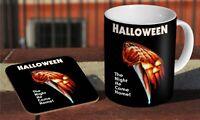 Michael Myers Halloween 1978 Ceramic Coffee MUG + Wooden Coaster Set