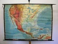 Schulwandkarte Wandkarte Karte map USA Vereinigte Staaten States 204x149 vor1945