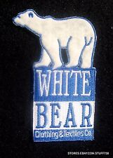 "WHITE BEAR CLOTHING EMBROIDERED SEW ON PATCH SPORTSWEAR MINNESOTA 2 1/2"" x 4"""