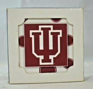 {IU} Indiana University - Four Ceramic Decorative Coaster Set