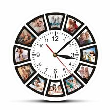 Custom Photos Home Wall Clock Personalized Family Photo Printed Art Clocks Watch