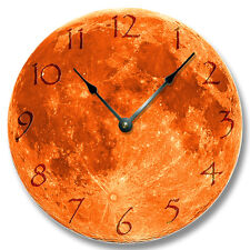 HARVEST MOON Pattern Wall CLOCK - Astrology, Space, Celestial Home Decor - 7134