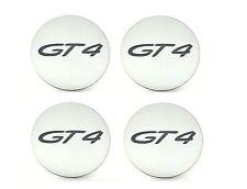 Set di nuovi originali Porsche Cayman GT4 Platino satinato MATT CENTRE CAPS