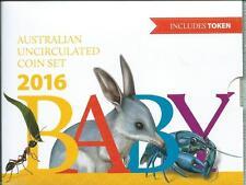 2016 Baby Mint Set Australian Coin UNC 5c, 10c, 20c, 50c, $1 & $2 & RARE TOKEN!!