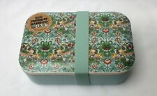 William Morris Strawberry Thief Bamboo Lunch Box with Silicon Band