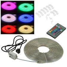 (11,99€/m) 10m/20m RGB LED-Stripe 230V mit Fernbedienung SMD Licht-Streifen Band