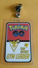 Pokemon Go ID Badge-Team Instinct Gym Leader cosplay costume