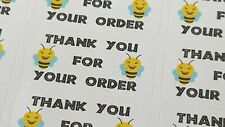 325 x Thank You for Your Order Labels Bumble Bee Sticky White Matte Labels