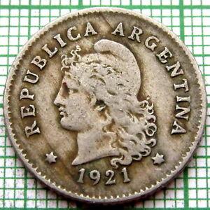 ARGENTINA 1921 10 CENTAVOS