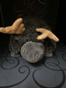 """Pillow Pets Pee-Wee's Moose Plush Stuffed Animal Toy Brown 12"""" Long Wildlife"""