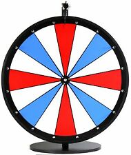 """24"""" Red, White and Blue Dry Erase Prize Wheel- on a table stand"""