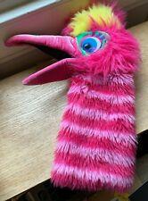 The Puppet Company Big Bird Hand Puppet Hot Pink Stripe Glove Squeaker in Beak