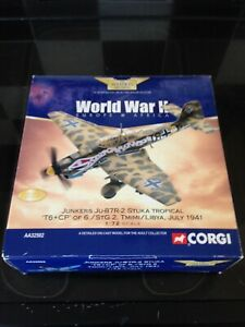 Corgi Aviation AA32502 Ju87 R-2 Stuka  Tropical 6/STG.2 Libya Undisplayed MIB.