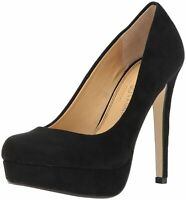 Chinese Laundry Womens Patent Closed Toe Classic Pumps, Black Suede, Size 6.5 PY
