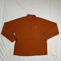 Nike ACG Thermal Pullover Mens L 1/4 Zip Athletic Running Orange Waffle Knit