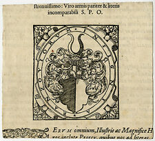 Antique Print-COAT OF ARMS-RANTZAU-SCHLESWIG HOLLSTEIN-Anonymous-ca. 1600