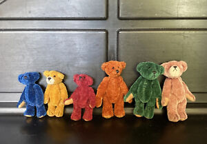 Little Gem Miniature Bears Chu Ming Wu 1996 Articulated Handmade Lot of 6