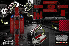 TRAXXAS E-MAXX CHASSIS CARBON FIBER HOP UP GRAPHICS DECALS WRAP KIT FOR 3922A RD