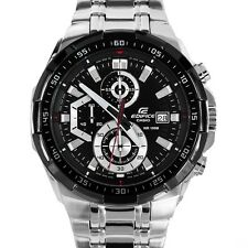 IMPORTED casio EFR539 chronograph mens watch BLACK DIAL STEEL STRAP/NEW ARRIVAL