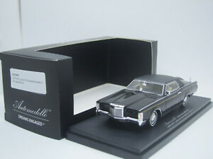 Lincoln Continental Mk III 3 1971 black Homage Edition 1/43 Automodello Resin
