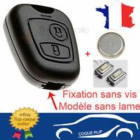 Coque Clé Plip SANS VIS Citroen Xsara Saxo Picasso Berlingo + 2 Switch + Pile