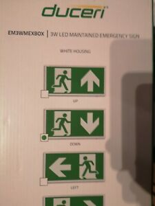 DUCERI fire exit sign EM3WMEXBOX 3W LED