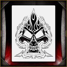 """Skull 39"" Airbrush Stencil Template Airsick"