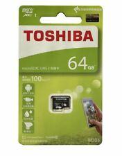 100MB/s Toshiba TF Card M203 Micro SD 64GB U1 Class10 Full HD flash memory card