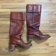 Vintage FRYE 8500 Black Label Campus Boots Distressed Russet Brown Leather 7 B