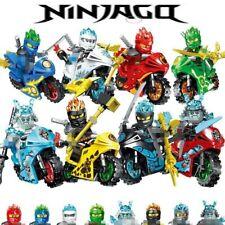 Lot/pack de 8 motos Ninjago inclus 8 figurines type Lego nouveaux modèles 2020!
