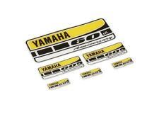 Yamaha 60th Anniversary Sticker Set 6pc Yellow Black White Resin Stickers NEW