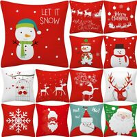 New Christmas Pillow Case Glitter Polyester Sofa Throw Cushion Cover Home Decors