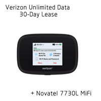 Verizon Unlimited Data Hotspot 4G LTE + Novatel 7730L Mifi - 30 days included