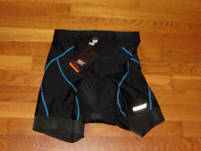 NWT Souke Sports Padded Black/Blue Cycling Shorts Mens Large