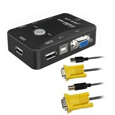 2 Port Usb 2.0 Kvm Switch Svga Vga Switch Box 2 Kvm Cables for Pc Keyboard Mouse