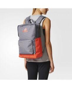 Adidas School Travel Backpack,Training Bag, Rucksack, Luggage,Trace Grey/Energy