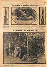 Fusil Canon Balles Lebel Mortier Tranchées Poilus Bataille Argonne WWI 1914