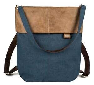 zwei Olli OR12 Rucksack Umhängetasche Tasche Blue Blau Braun Damen Herren Kinder