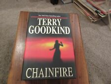 """Terry Goodkind """"CHAINFIRE"""" HC/DJ/FIRST EDITION/SIGNED BY GOODKIND"""