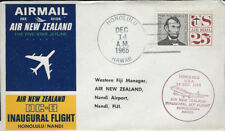 AVIATION :1965 AIR NEW ZEALAND . First Flight - Honolulu to Nandi