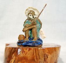 Bonsai Figur Angler 11 Asien Figuren Deko Koi Asiatika Keramik