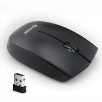 MOUSE WIRELESS USB OTTICO NOTEBOOK 2.4GHz SENZA FILI NERO Alta velocità