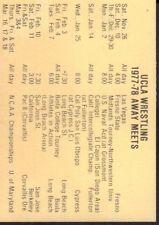 1977-78 UCLA Wrestling Schedule 101717jh