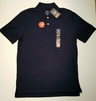 St Johns Bay Mens' Performance Quick Dri Polo Signature Navy S M GOLF NWT FAST