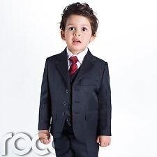 Bebé Niño Traje Azul Marino, Ceremonia Niño, de Boda, 1-14 Años