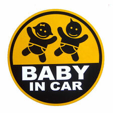 Baby in Car boy girl twins stickers decals infant warning sign for safety car
