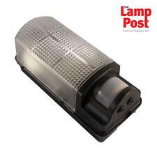 Robus R60BHPIR-04 60W Bulkhead Outdoor Wall Light Fitting With PIR Sensor BLACK